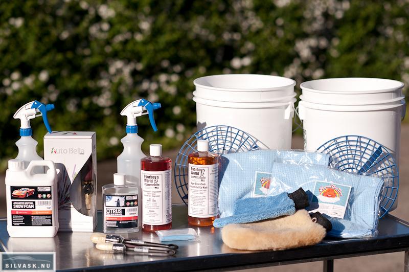 Produkter til forvask - vask - affedtning og claybar.