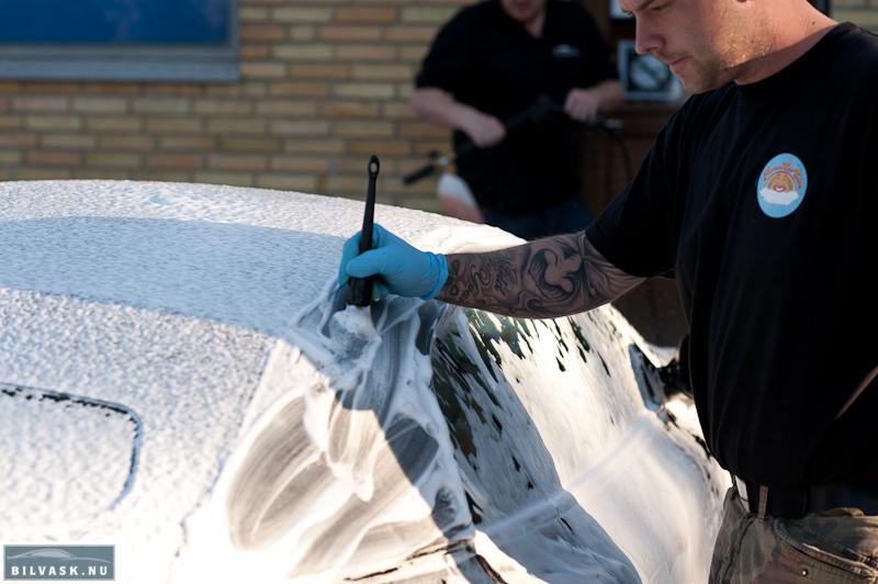 Kalechen renses med bilplejepensel